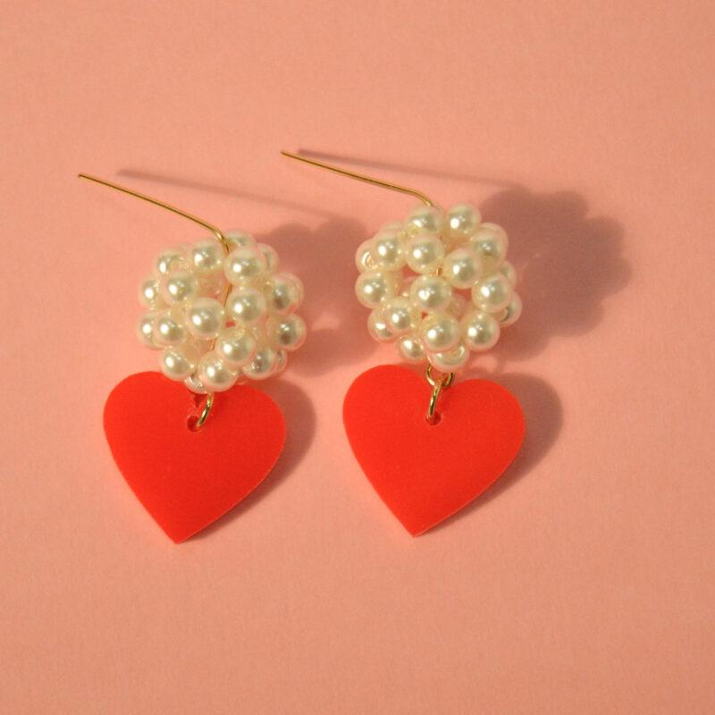 Boucles d'oreilles Lisa Rouge - KITX Laboratoire d'excentricité